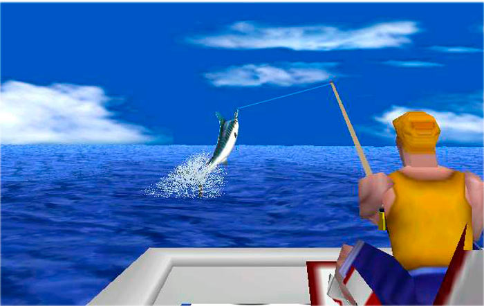 virtual deep sea fishing игра 1999 года