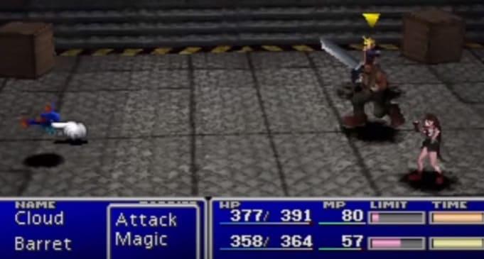 Final Fantazy VII популярная JRPG на PS1