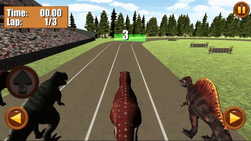 Dinosaur Race гонки динозавров