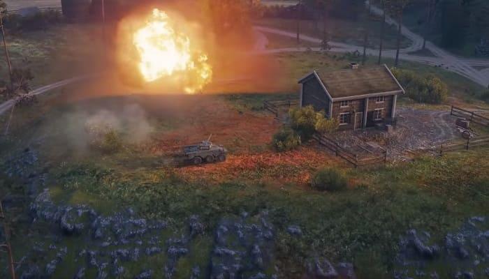 Как правильно уничтожать колесную технику World of Tanks?