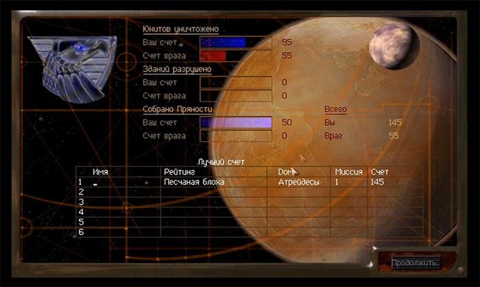 DUNE 2000 (1998) - Игры серии Dune