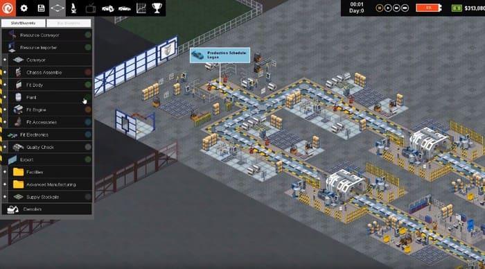 Production Line: Car Factory Simulation экономические симуляторы на пк