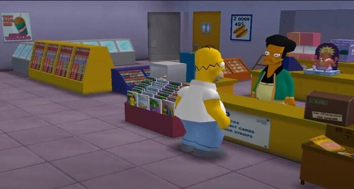 The Simpsons Hit & Run по мультфильмам игры