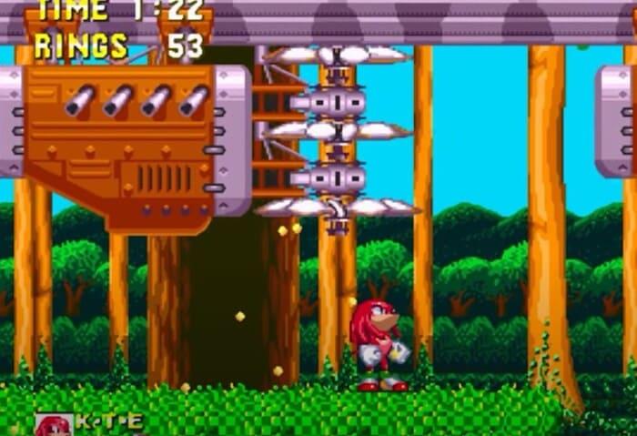 Наклз. Серия игр Sonic the Hedgehog
