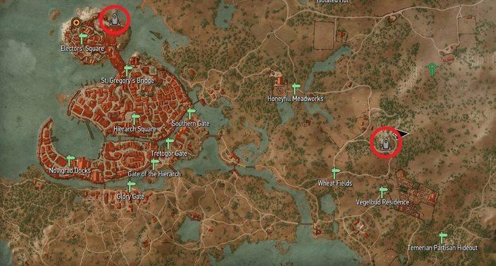 Новиград места силы ведьмак 3