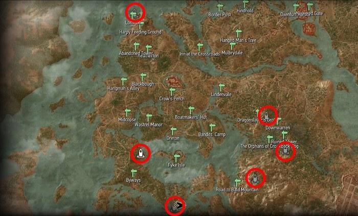 Велен места силы ведьмак 3