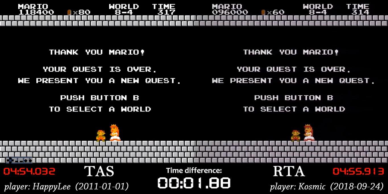 Может ли RTA геймер быть быстрее TAS?