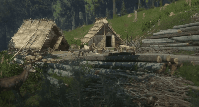 Лагерь лесорубов