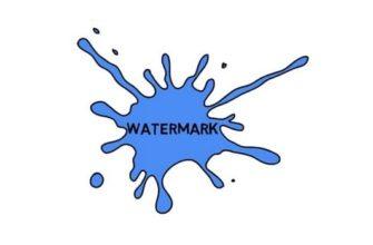 как поставить водяной знак на фото