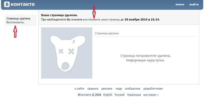 Как восстановить страницу Вконтакте простым способом?