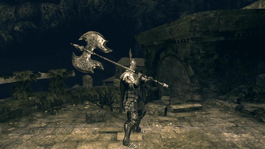 Топор черного дракона в игре Dark Souls 2