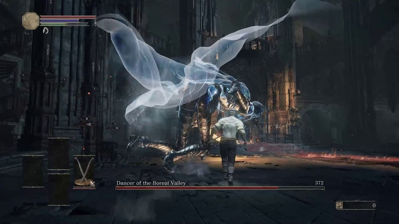 Атака в прыжке Dark Souls 3