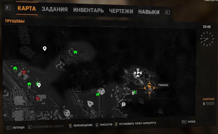 карта лаванды