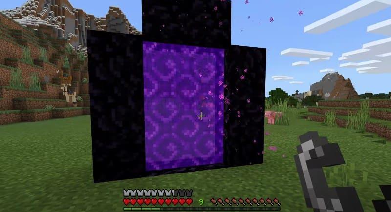 Портал в Нижний мир в Minecraft