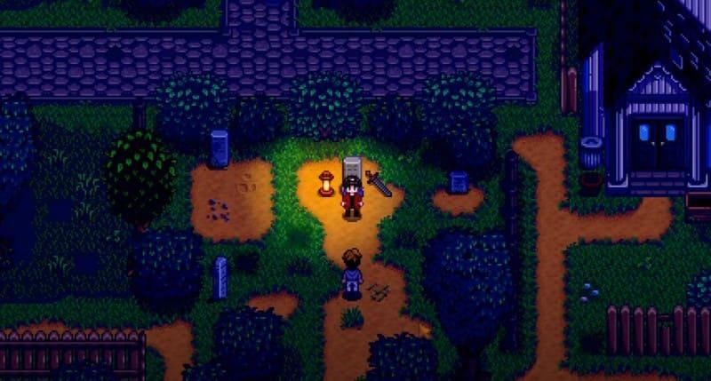 Сцена на кладбище
