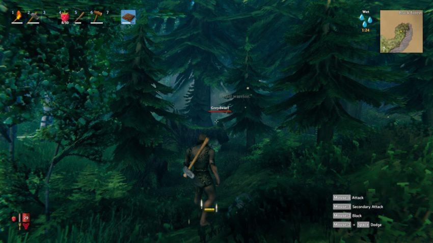 вырубка леса в игре Valheim