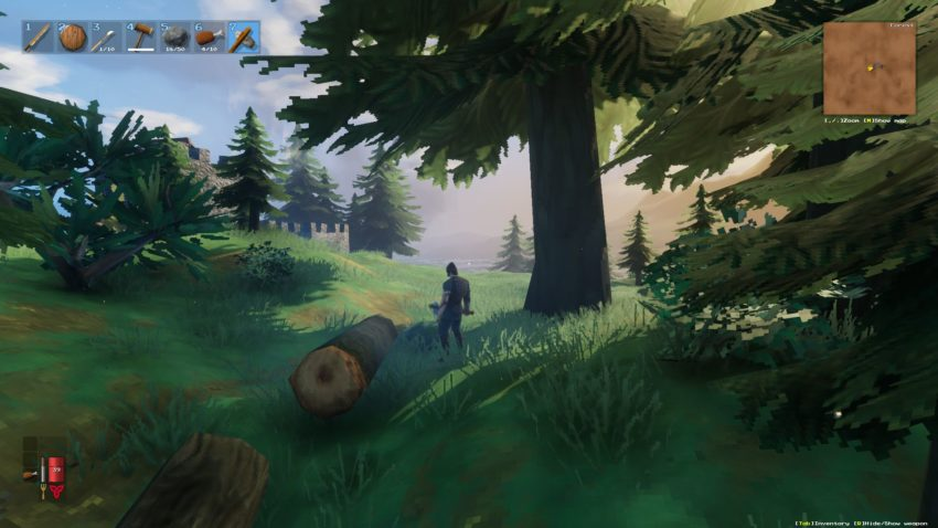 валим лес в игре Valheim