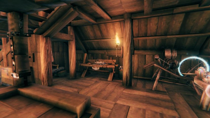 Строительство изнутри в игре Valheim