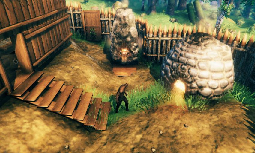 добываем руду в игре Valheim