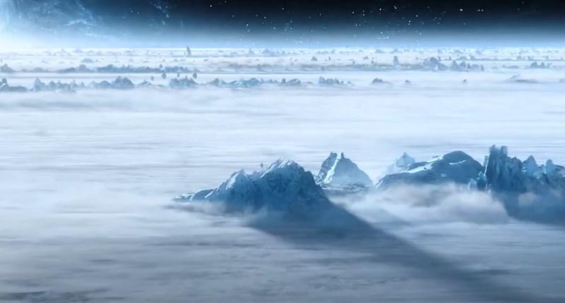 Ландшафт ледяной планеты