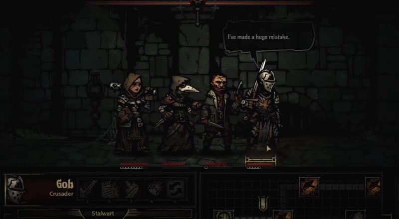 Двухмерная игра Darkest Dungeon