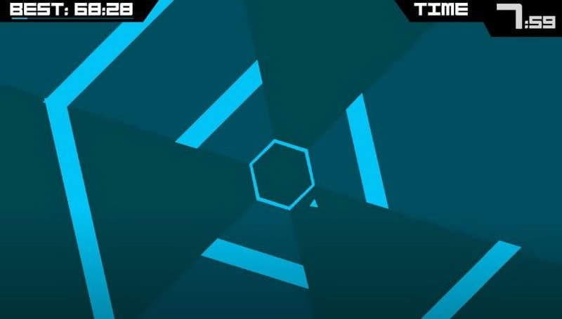 Игра для телефонов Super Hexagon