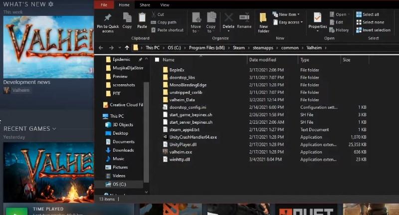 Копирование локальных файлов со Стима