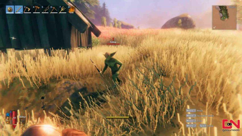 Лагерь гоблинов в игре Valheim