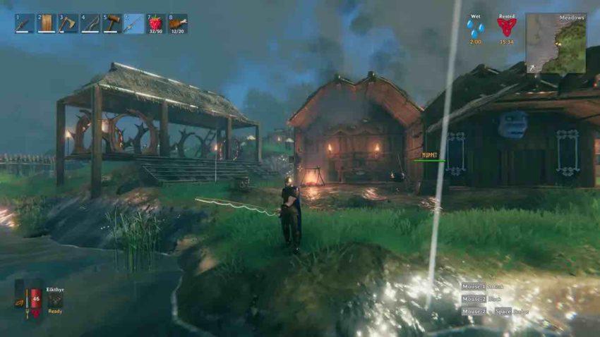 Рыбалка в игре Valheim