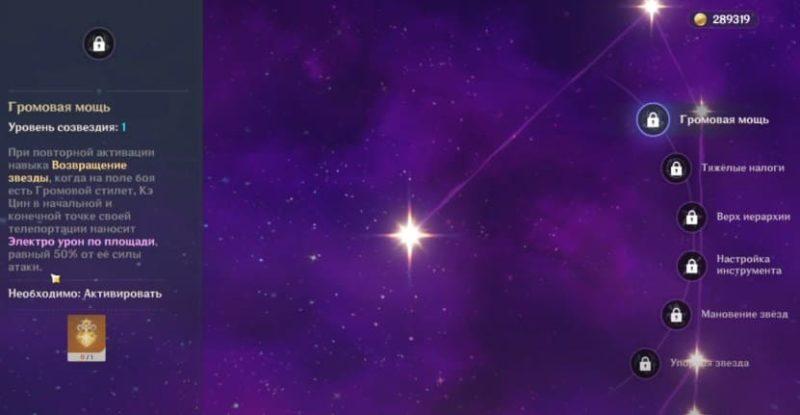 Созвездие громовая мощь