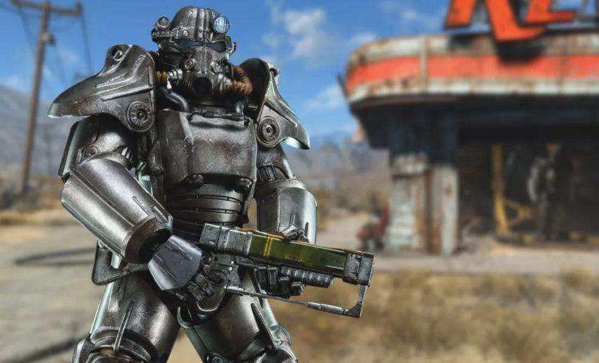 Силовая броня Т-45 в Fallout-4