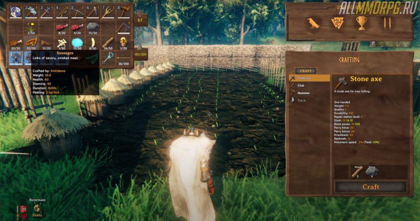 Как посадить семена в игре Valheim