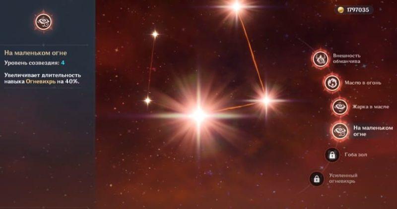 Созвездие На маленьком огне
