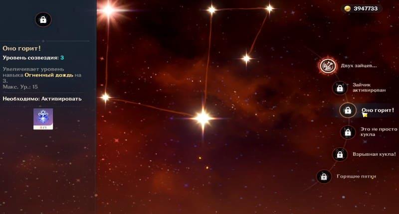 Созвездие Оно горит