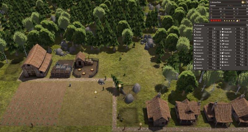 Архитектура зданий в моде Medieval town
