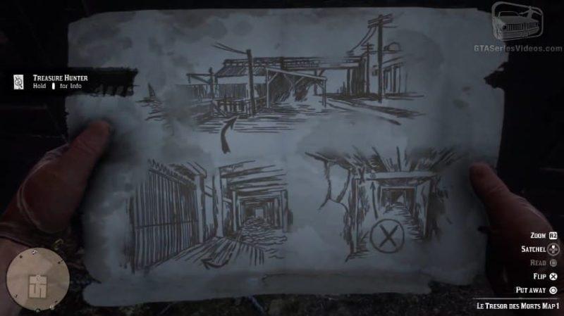 Карта Le Tresor des Morts