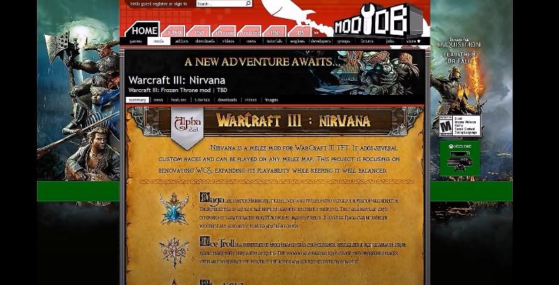 Мод Nirvana для Warcraft 3
