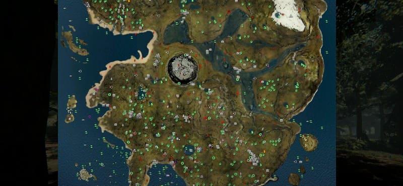 Подробная карта для The forest