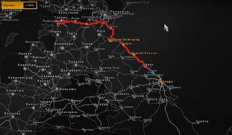 Карта России для ETS2