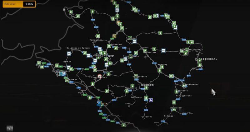 Карта Южный регион для Евро Трек